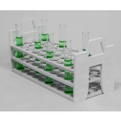 Bel-Art Stack Rack™ PP Test Tube Rack 188601620, For 16-20mm Tubes, 40 Places, White, 1/PK