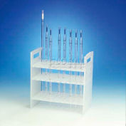 "Bel-Art Pipette Support Rack 189530000, Polypropylene, 50 Places, 8-3/8"" x 4-1/2"" x 8-3/4"", 1/PK"