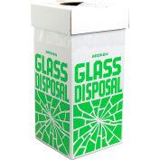 "Bel-Art F24653-0001 Broken Glass Disposal Box, Floor Model, 12""W x 12""D x 27""H, 6/PK"