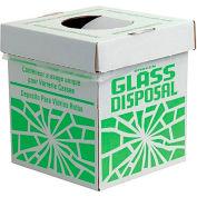 "Bel-Art F24653-0002 Broken Glass Disposal Box, Benchtop Model, 8""W x 8""D x 10""H, 6/PK"