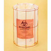 "Bel-Art Poxygrid® Wire Bag Holder 131890000, Fits 24""W x 36""H Bags, Orange, 1/PK"