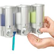Aviva III Satin Silver, Translucent Btls, Chrome Buttons/Locking Lid - 76335-L - Pkg Qty 6