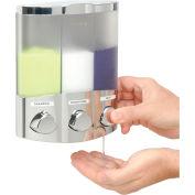 Aviva Trio Chrome, Translucent Container With Chrome Buttons - Pkg Qty 6