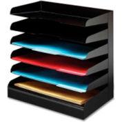 Buddy Products Letter Tray Six Tier Desktop Organizer Black