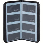 "Bugatti BCC97358 Polyester Business Card Case, 5""L X 10""H X 0.25""W, Black"