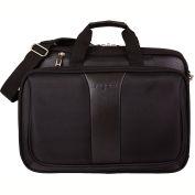 """Bugatti EXB1707 Ballistic Nylon Executive Briefcase, 17"""" Computer Case, Black"""