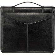 Bugatti JRN6091 Genuine Leather Journal w/ O-Ring Binder, Black