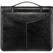 Bugatti JRN6091 Genuine Leather Journal w/ O-Ring Binder, Black