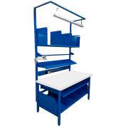 Built-Rite Complete Packing Bench Plastic Laminate Square Edge - 72 x 30