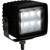 "Buyers 3.75"" Square Clear Flood Light With 6 LED - 1492137"
