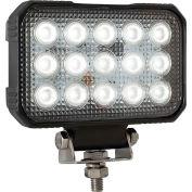 "Buyers 5.9 x 4.8"" Clear Rectangular Flood Light With 15 LED - 1492190"