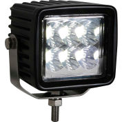 "Buyers 3.23"" Square Clear Spot Light With 6 LED - 1492237"