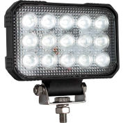 """Buyers 5.9 x 4.8"""" Clear Rectangular Spot Light With 15 LED - 1492290"""