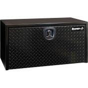 Buyers Diamond Tread Aluminum Underbody Truck Box w/ T-Handle - Black 18x18x24 - 1702500