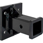 """Buyers Products Black Receiver Tube 2"""" I.D. x 6"""" Long Welded To 1/2"""" Mounting Plate - 1804055"""