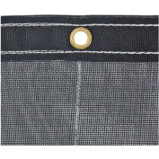 Buyers Black Mesh Roll-Off Container Tarp, Manual, 12 Ft. x 24 Ft. - 3016005
