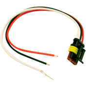 Buyers DOT Light Plug 3-Wire AMP-Style Plug With Stripped leads And #10 Ring On Ground - 5620352 - Pkg Qty 10