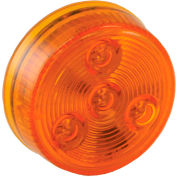 """Buyers 2"""" Amber Round Marker/Clearance Light With 4 LED - 5622254 - Pkg Qty 10"""