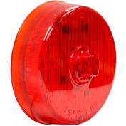 """Buyers 2.5"""" Red Round Marker/Clearance Light With 7 LED - 5622517 - Pkg Qty 10"""