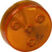 "2-1/2"" Round 4 Led Amber Marker Light - Min Qty 100"