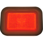 """Buyers 3.125"""" Red Rectangular LED Marker/Clearance Light with Reflex Kit - 5623112"""