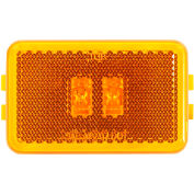 "Buyers 3.125"" Amber Rectangular LED Marker/Clearance Light with Reflex - 5623123 - Pkg Qty 10"