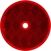 """Buyers 3.1875"""" Red Round DOT Bolt-On Reflectors - 5623316 - Pkg Qty 10"""