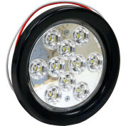 "4"" Round 10 LED Clear Backup Light - 5624310"