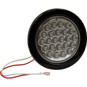 "4"" Round 24 LED Clear Backup Light w/ Grommet & Plug - 5624324"
