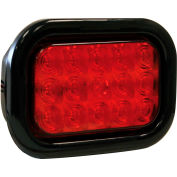 """Buyers 5.33"""" Red Rectangular Stop/Turn/Tail Light Kit With 15 LED - 5625115"""