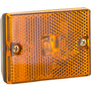 "Buyers 2.875"" Amber Rectangular Marker/Clearance Light With Reflex - 5652720 - Pkg Qty 10"