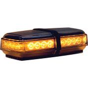 Buyers LED Rectangular Amber Mini Lightbar 12VDC - Magnetic 24 LEDs - 8891050