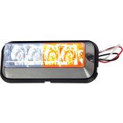 Buyers LED Rectangular Amber/Clear Strobe Light - 4 LEDs - 8891105