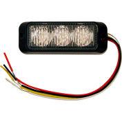 Buyers LED Rectangular Amber Strobe Light 12-24VDC - 3 LEDs - 8891120
