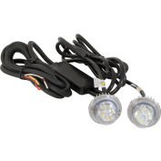 Clear LED Hidden Strobes w/ 2 In-Line Flashers - 15' Cable - 8891215
