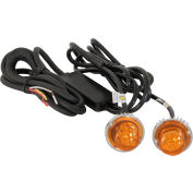 Amber LED Hidden Strobes w/ 2 In-Line Flashers - 15' Cable - 8891216
