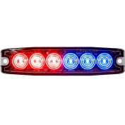 """Buyers 5.14"""" Red/Blue Surface Mount Ultra-Thin LED Strobe Light - 8892205"""