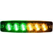 "Buyers 5.14"" Amber/Green Surface Mount Ultra-Thin LED Strobe Light - 8892210"