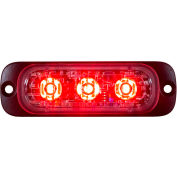 "Buyers 3.375"" Red Thin Mount Horizontal Strobe Lights With 3 LED - 8892303"