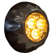 """Buyers 1"""" Amber Round Surface/Recess Mount Strobe Lights With 3 LED - 8892400"""