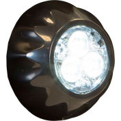 """Buyers 1"""" Clear Round Surface/Recess Mount Strobe Lights With 3 LED - 8892401"""