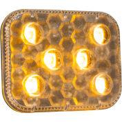 "Buyers 2.25"" Amber Stick-On Rectangular Strobe Light With 6 LED - 8892500"