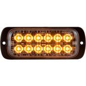"Buyers 4.5"" Amber Thin Mount Rectangular Strobe Light With 12 LED - 8892600"