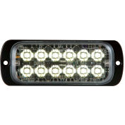 """Buyers 4.5"""" Clear Thin Mount Rectangular Strobe Light With 12 LED - 8892601"""