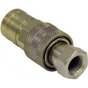 "Buyers Sleeve Type Quick Detach Hydraulic Coupler, B40003, 3/8"" Nptf Coupler Assembly - Min Qty 3"