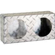 Dual Round Diamond Thread Aluminum Light Cabinet - LB6123ALDT
