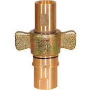 "Buyers Wing Type Quick Detach Hydraulic Coupler, QDWC241, 1-1/2"" NPT Coupler, 100 Flow GPM"