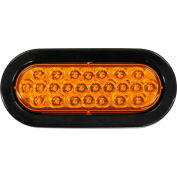 "6-1/2"" Oval Recessed Amber Strobe Light - SL65AO"
