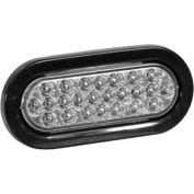 """6-1/2"""" Oval Recessed Clear Strobe Light - SL65CO"""