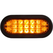 "Buyers 6"" Amber Oval Recessed Strobe Warning Light With 19 LED - SL67AO"
